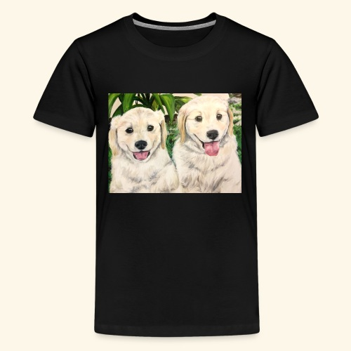 Golden Pups by Kelli Starkey @LACreationsLLC - Kids' Premium T-Shirt