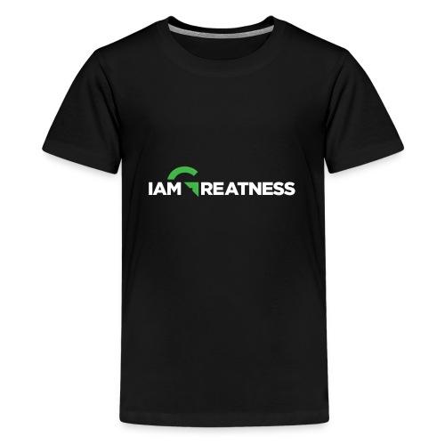 White iAmGreatness Logo - Kids' Premium T-Shirt