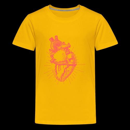 Hand Sketched Heart - Kids' Premium T-Shirt