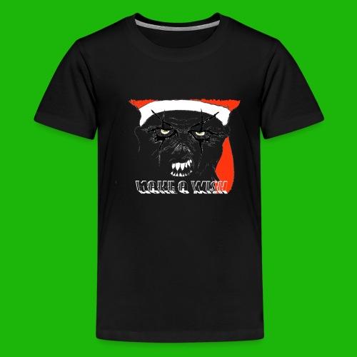 santa make a wish - Kids' Premium T-Shirt