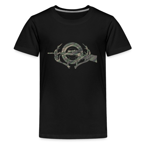 Camouflage Hunting and Shooting Sports Logo - Kids' Premium T-Shirt