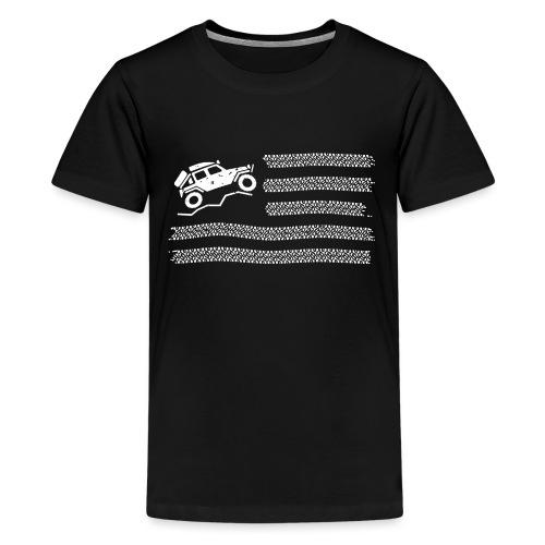 American Off Road 4x4 Overland Flag - Kids' Premium T-Shirt