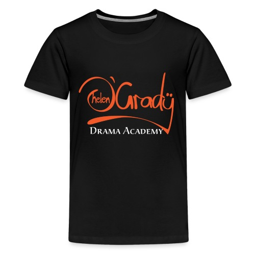 Helen O'Grady Orange Logo on Black - Kids' Premium T-Shirt