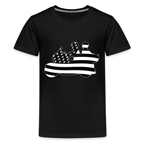 Patriotic American Flag Touring Motorcycle - Kids' Premium T-Shirt
