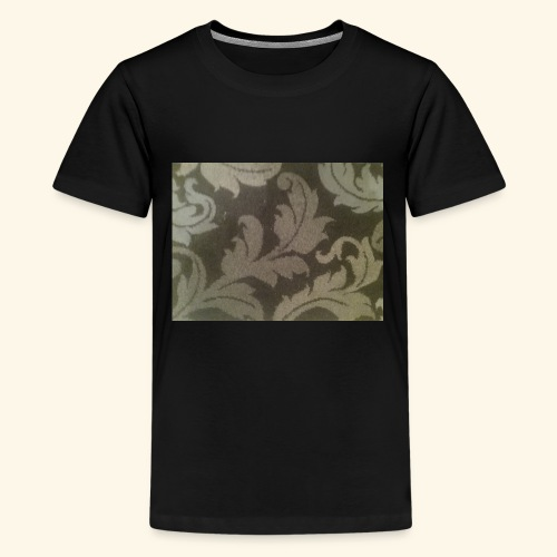 Swirling leaves white and grey style. - Kids' Premium T-Shirt