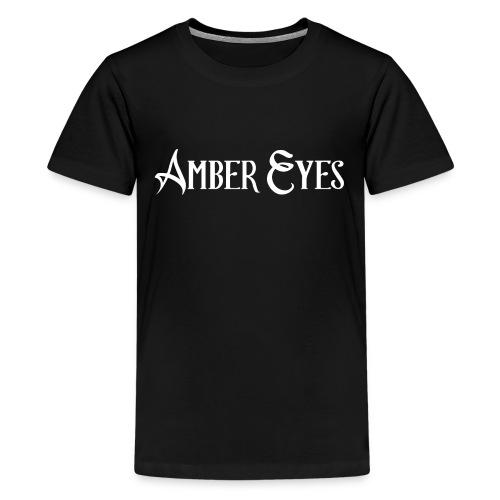 AMBER EYES LOGO IN WHITE - Kids' Premium T-Shirt