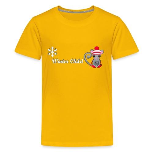 Mountain Winter Fairy - Kids' Premium T-Shirt