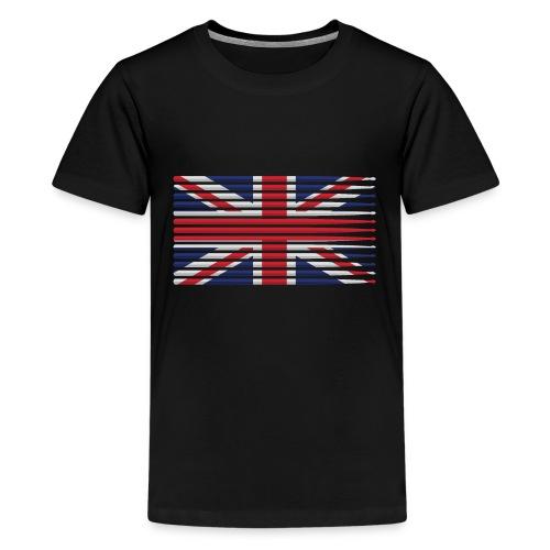 United Kingdom drummer drum stick flag - Kids' Premium T-Shirt