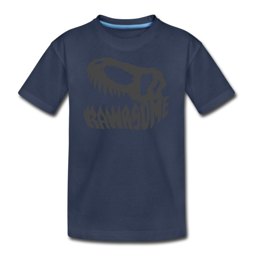 RAWRsome T Rex Skull by Beanie Draws - Kids' Premium T-Shirt