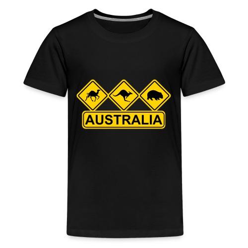 Australian 3 Animal Street Sign - Kids' Premium T-Shirt