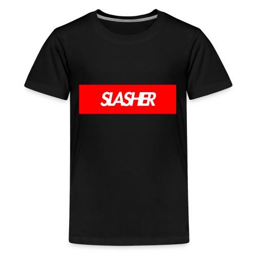 Slasher Supreme Box Logo - Kids' Premium T-Shirt