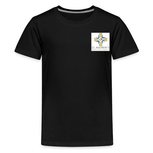 St. Andrew's small plain logo on white - Kids' Premium T-Shirt