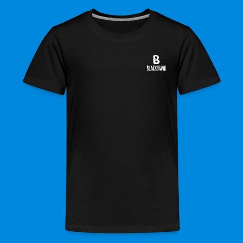 White blackdavid - Kids' Premium T-Shirt