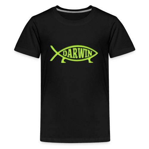 Darwin Fish - Green - Kids' Premium T-Shirt