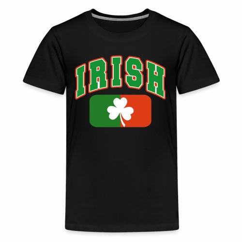 Vintage Irish Flag Shirt St Patricks Day Shamrock - Kids' Premium T-Shirt