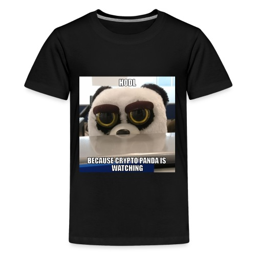 Crypto Panda Is Watching - Kids' Premium T-Shirt