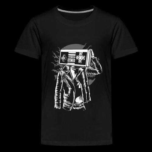 Retro Gamer Head - Kids' Premium T-Shirt