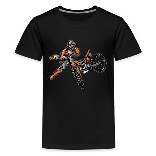 Orange Freestyle Motocross Rider - Kids' Premium T-Shirt