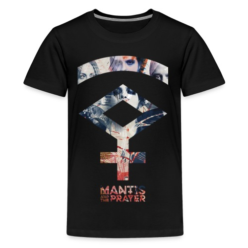 Mantis and the Prayer- Symbol Design - Kids' Premium T-Shirt