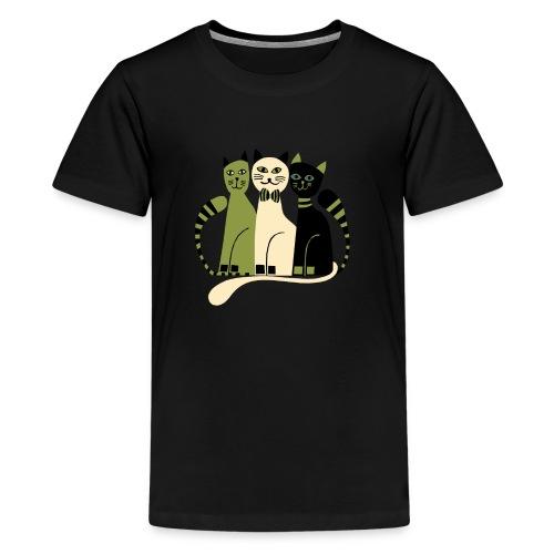 Cozy Cats by Anita Bijsterbosch - Kids' Premium T-Shirt