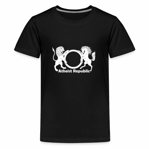 Atheist Republic Logo - White - Kids' Premium T-Shirt