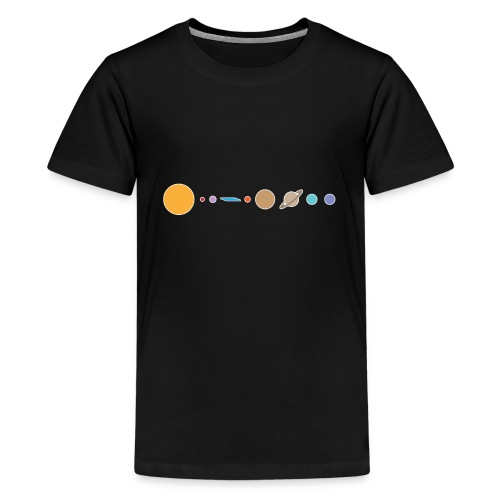 Flat earth conspiracy theory humor illustration - Kids' Premium T-Shirt