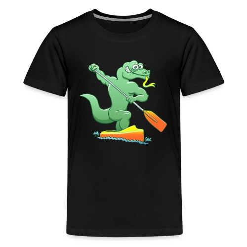Water Monitor Competing in a Canoe Sprint Event - Kids' Premium T-Shirt