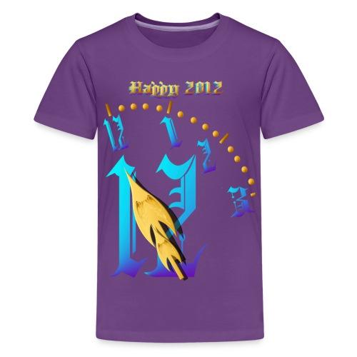 Happy 2012-Clock Striking 12:NM - Kids' Premium T-Shirt