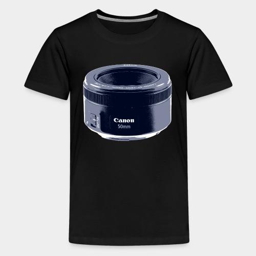 50mm Lens Poster Art Blue - Kids' Premium T-Shirt