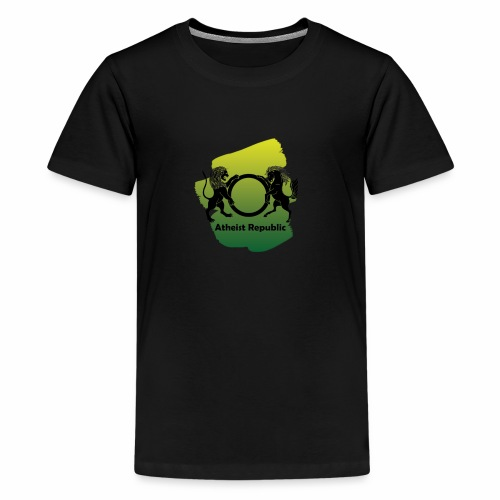 Atheist Republic Logo - Yellow & Green Paint - Kids' Premium T-Shirt