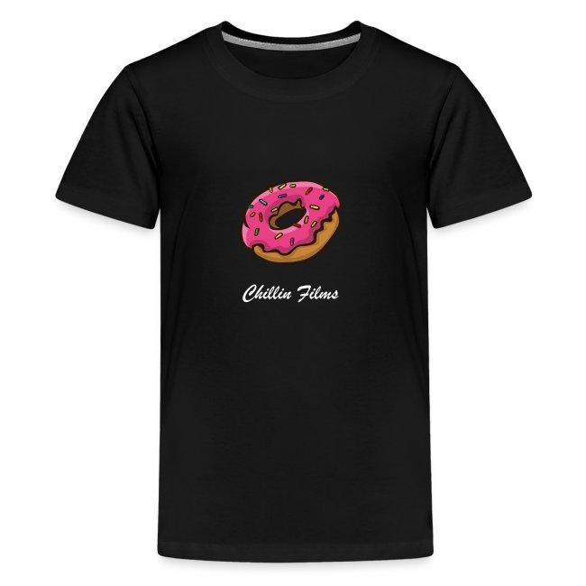 CF doughnut white writing