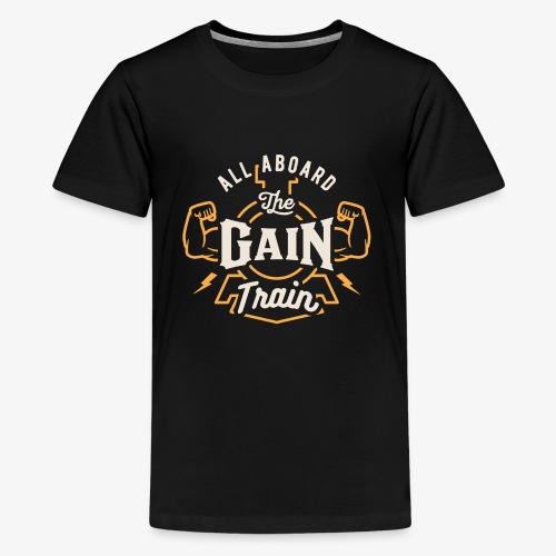 All Aboard The Gain Train - Kids' Premium T-Shirt