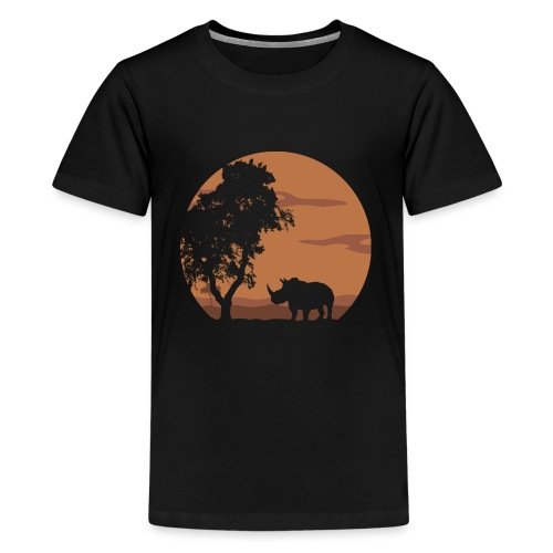 Rhino landscape - Kids' Premium T-Shirt