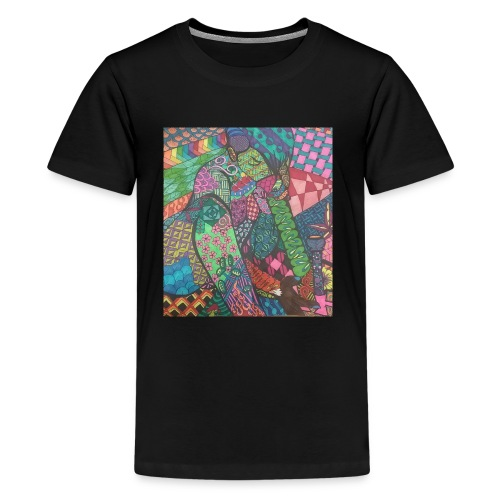 Zentangle Rip - Kids' Premium T-Shirt