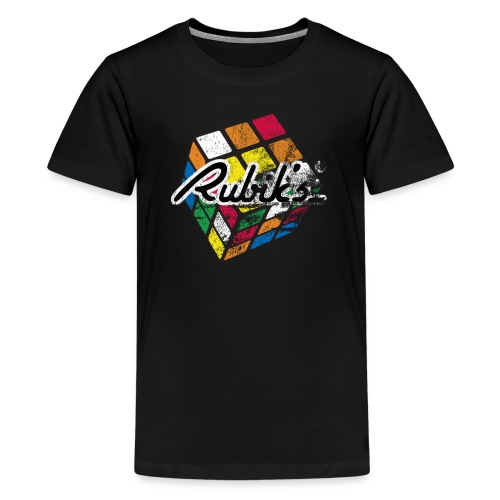 Rubik's Cube Distressed and Faded - Kids' Premium T-Shirt