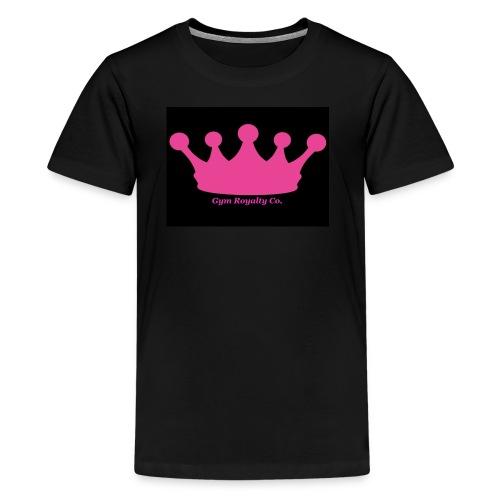 Gym Royalty Co Pink Crown Logo - Kids' Premium T-Shirt