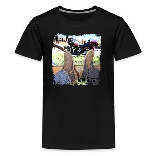Ride Fast, Live Slow - Kids' Premium T-Shirt