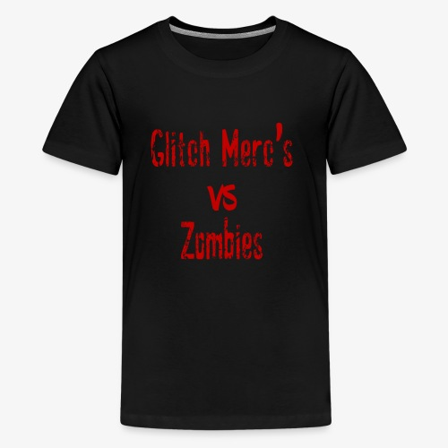 glitch zombie red - Kids' Premium T-Shirt