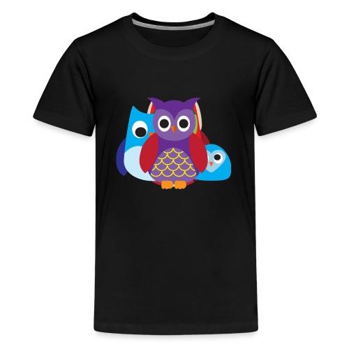Cute Owls Eyes - Kids' Premium T-Shirt