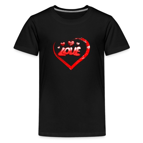 Red Love Heart Valentine Shirt Distressed Gifts - Kids' Premium T-Shirt