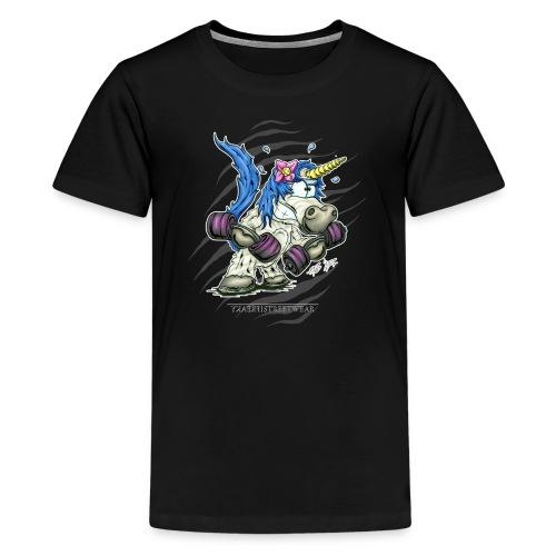 Train like a unicorn blue - Kids' Premium T-Shirt