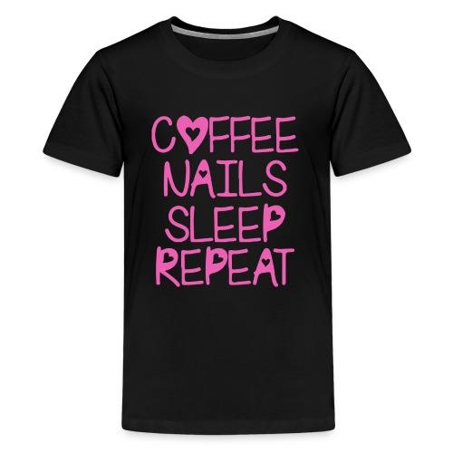 Coffee Nails Pink - Kids' Premium T-Shirt