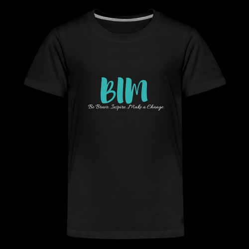 BIM Turquoise/Black - Kids' Premium T-Shirt