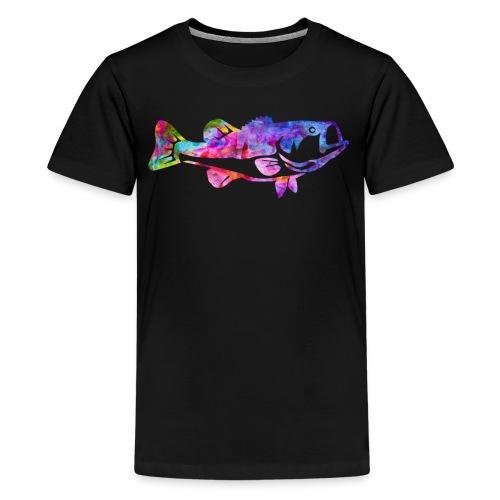 Fish Watercolor Bass Fishing Water Color Fish - Kids' Premium T-Shirt
