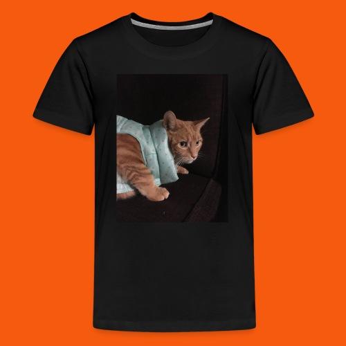 Trendy Orange Cat - Kids' Premium T-Shirt