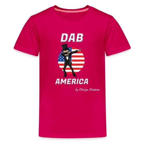 DAB AMERICA WHITE - Kids' Premium T-Shirt