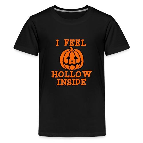 I FEEL HOLLOW INSIDE Funny Halloween Pumpkin - Kids' Premium T-Shirt
