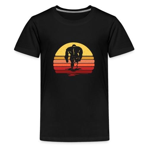 Yeti Sasquatch Bigfoot Sunset - Kids' Premium T-Shirt