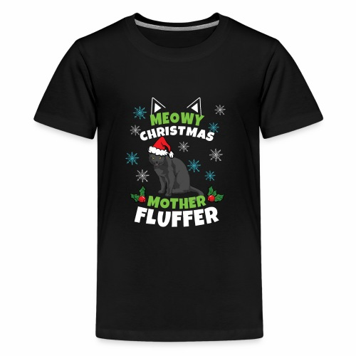 Meowy Christmas Mother Fluffer - Kids' Premium T-Shirt