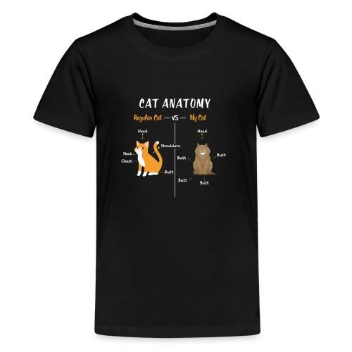 Cat Anatomy T-Shirt | Regular VS My Cat - Kids' Premium T-Shirt